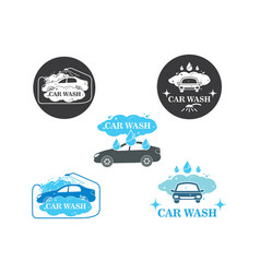 Carwash icon logo vector