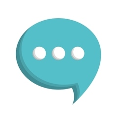 Chat bubble icon image vector
