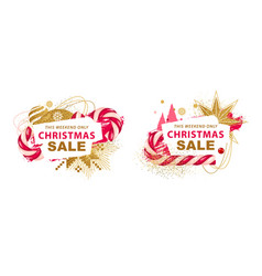 Christmas sale banners vector