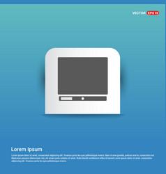 computer icon - blue sticker button vector image