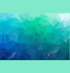 dark blue green blurry triangle template vector image
