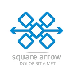 Design square arrow icon symbol abstract logo vector