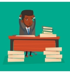 Despair businessman working in office vector