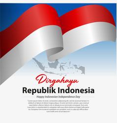 Dirgahayu republik indonesia vector