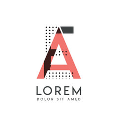 ea modern logo design with gray and pink color vector image