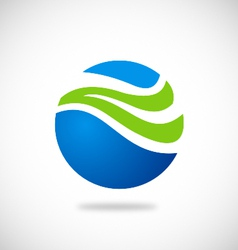 ecology water globe abstract logo vector image
