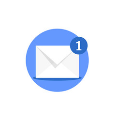 email receiving like online notification vector image