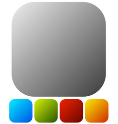 empty button badge backgrounds in 5 colors on vector image