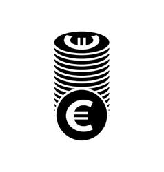 Euro coins simple icon vector image