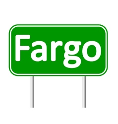 Fargo green road sign vector