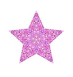 Floral ornament star symbol - geometrical vector
