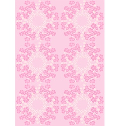 Flowers on pink seamless background vector image
