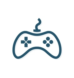 Game controller logo template Joystick icon vector