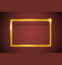 geometric art creative golden frame gold abstract vector image
