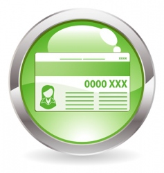 gloss button with credit card vector image