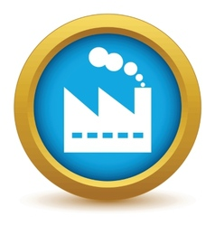 Gold factory icon vector image