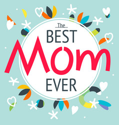 happy mothers day layout greeting card design vector image