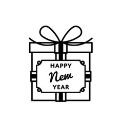 happy new year to you greeting emblem vector image