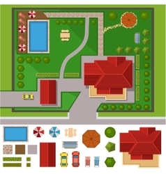 House landscape constructor vector image