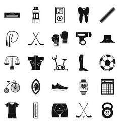 Kettlebell icons set simple style vector