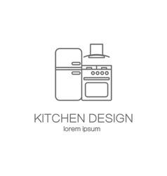 Kitchen logo design templates vector image