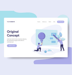 Landing page template of original concept vector