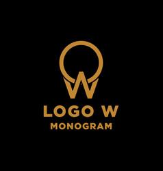 luxury initial w logo design icon element isolated vector image