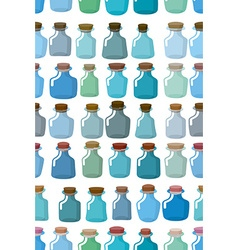 Magic glass empty bottle seamless pattern vector image