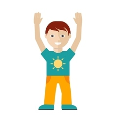 Male Character in T-shirt with Sun Yellow Trouses vector
