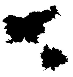 Map slovenia and ljubljana country and capital vector