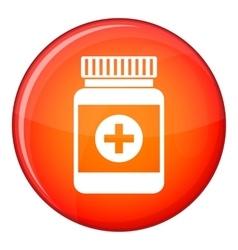 Medicine bottle icon flat style vector image