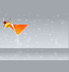 Official cocktail icon the unforgettable mary vector