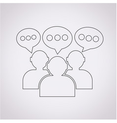 people icon dialog speech bubble vector image