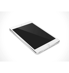 Realistic tablet pc computer with black screen vector