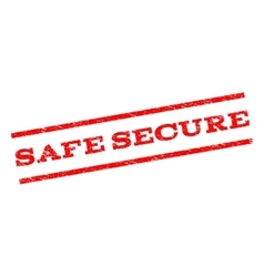 Safe Secure Watermark Stamp vector image
