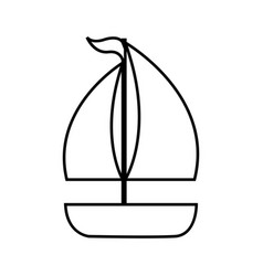 Sailboat ship isolated icon vector