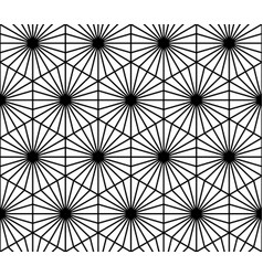 Seamless geometric pattern in style kumiko vector