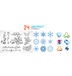 set of abstract geometric symbols vector image