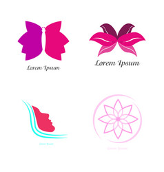 Set of spa logos vector