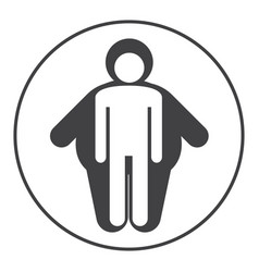 Skinny and fat icons overlap on white background vector