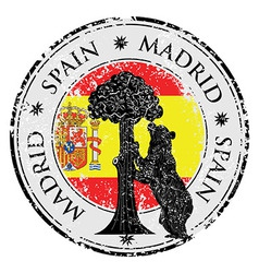 Spain stamp vector image