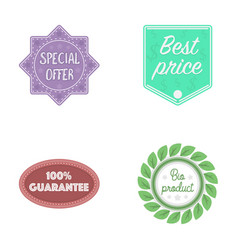 Special offer best prise guarantee bio product vector