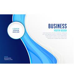 Stylish blue modern business presentation vector