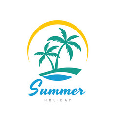summer holiday - concept business logo vector image