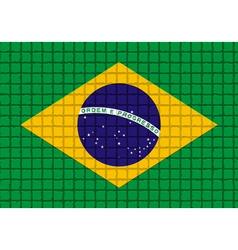 The mosaic flag of Brazil vector
