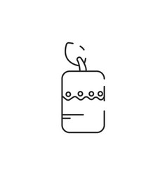 Thin line candle icon vector