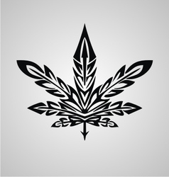 Tribal Marijuana Leaf vector image