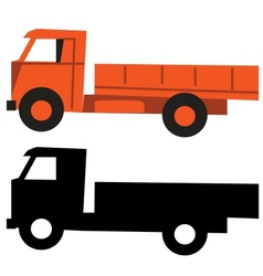 Truck cartoon silhouette vector image