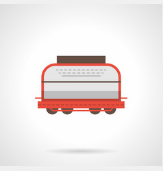 Universal boxcar flat color icon vector