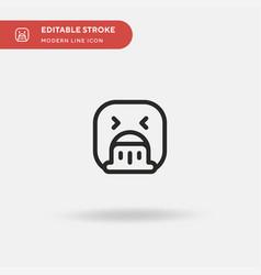 vomiting simple icon symbol vector image